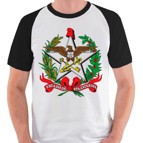 Camiseta Santa Catarina Brasão Camisa Blusa Raglan