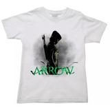 Camiseta Infantil Arqueiro Verde Arrow Serie Oliver Queen 02