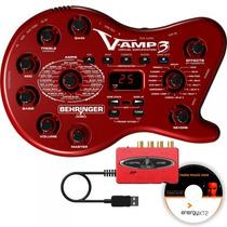 Pedaleira Behringer V-amp3 + Interface Uca 222 Imperdível