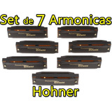 Set De 7 Armonica Hohner Estuche Incluido Blues Harp Rock