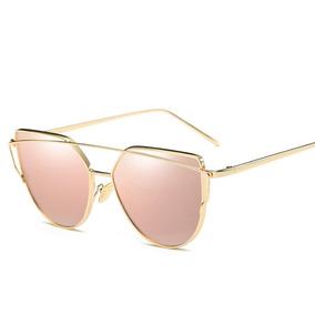 Óculos De Sol Espelhado Cat Eye