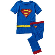 Conjunto Del Sueño Dc Comics Superman Tight Fit Traje De Boy