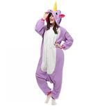 Unicornio Purpura Mono Pijama Kigurumi Cosplay Disfraces M