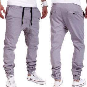 Pantalon Sudadera Gris Fashion Casual Jogger Dance Sportwea