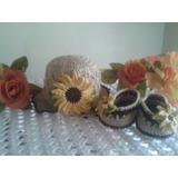 Conjuntos De Sombreros Con Zapatitos Tejidos En Crochet