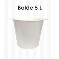 Balde Plástico De Gelo 5 Litros Caixa 5 Peças Sem Gravação