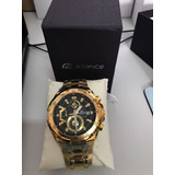 Relógio Casio Masculino Edifice Ef-558d-1avudf. Dourado Pret