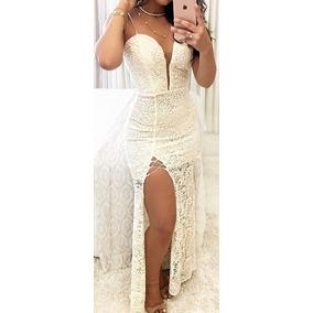 Vestido Longo Em Renda Madrinha Casamento Formatura #vl8