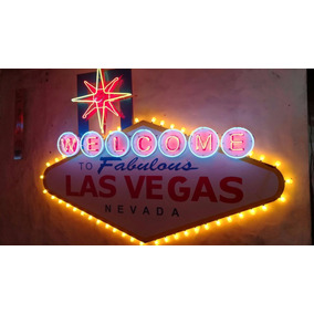 Cartel Las Vegas Neon Casino Decoracion Retro Cartel