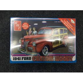 Ford 1941 Custom Wood Amt /25 Kit Plástico Para Montar.