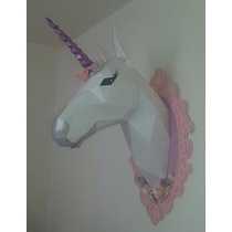 Cabeza Unicornio Decoracion Pared, Fiestas Infantiles