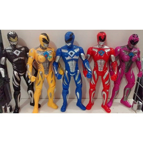 Kit 5 Power Rangers Mega Force Bonecos Articulados 17 Cm