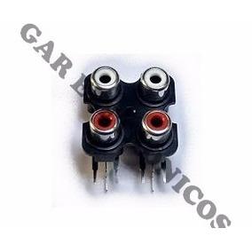 Conector Jack Rca 4x1 Modulo Roadstar E Outros