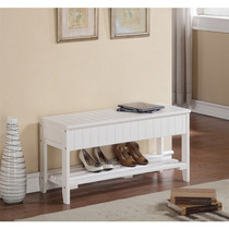 Rennes Solid Madera Mueble Para Zapatos With Storage
