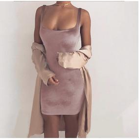 Vestido Sexy Terciopelo Ajustado Corto Envio Gratis