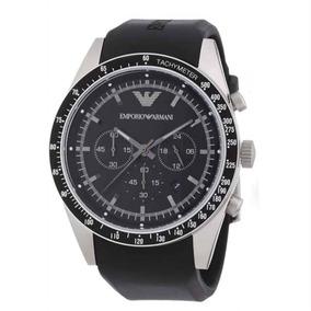 Relógio Emporio Armani Pulseira De Borracha Preta Ar5985