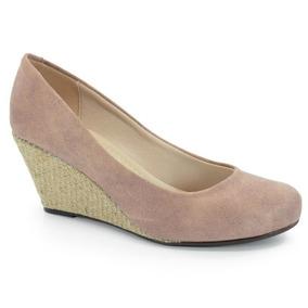 0885832d16 Sapato Anabela Moleca Nobuck Vermelho - Sapatos no Mercado Livre Brasil