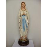 Imagen Religiosa De Yeso - Virgen De Lourdes - Alt 61 Cm /c1