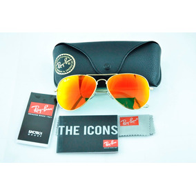 lentes ray ban color naranja