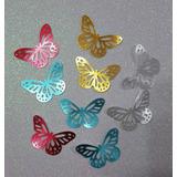 Mariposas Troqueladas Papel Metalizado