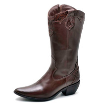 Bota Feminina Moda Country Montaria Texana Bico Quadrado Lux
