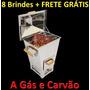 8 Brindes Frete G Churrasqueira Bafo Gaucha G Kg Gás Carvão