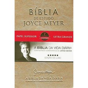 Bíblia De Estudo Joyce Meyer Letra Grande Dourada