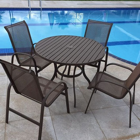 Cadeira/poltrona,alumínio,tela,piscina,jardim,varanda-novo