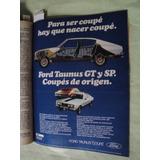 Publicidad Ford Taunus Coupe Gt - Sp Año 1980