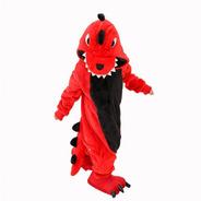 Pijama Dinosaurio Rojo Enterizo Kigurumi 3-12 Años / Lhua