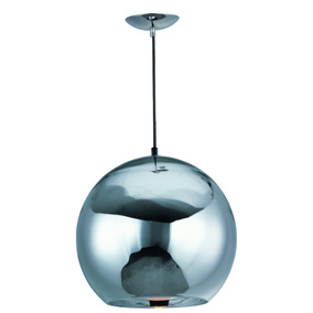 Lampara Colgante Esfera Solar Cristal Espejo Cromo 30cm Et2