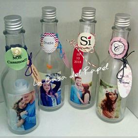 Invitaciones De Boda En Botella De Vidrio Souvenirs Para Tu - Invitaciones-de-boda-en-botella