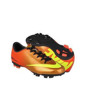 Zapatos De Fútbol Nike Para Hombre Simipiel Naranja Con Amar