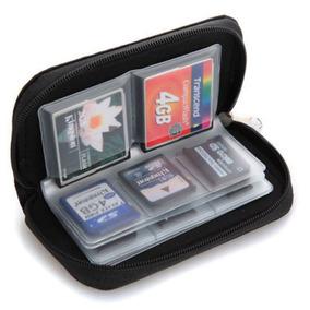(frete $7) Case Bolsa Porta Cartão Memória Cf Sd Sdhc