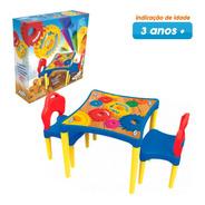 Mesinha Infantil Com Cadeiras Oficina De Criações Xalingo