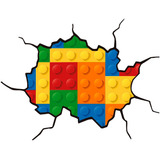 Adesivo Decoração Parede Lego Crianças Kids001 115x90cm