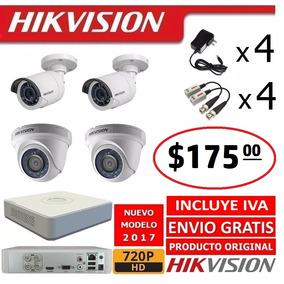 Kit 4 6 8 16 Camaras Vigilancia Seguridad Hd 720p Hikvision