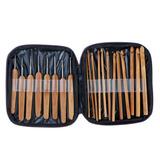 Kit Com 20 Agulhas Para Tricô , Crochê ,artesanato De Bambu