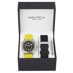 Reloj Caballero Nautica Nad14003g Extensible Intercambiable
