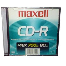 Disco Compacto Grabable (cd-r) Maxell Con Estuche Acrílico