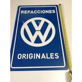 Letrero Emblema De Pared Acrilico Refacciones Originales Vw