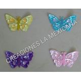 Bordado De Mariposa En Lentejuela Y Chaquira