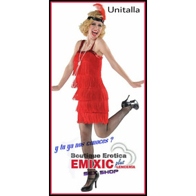 Disfraz Can Can Sexy Mujer Hallowen Marca Robe Rouge