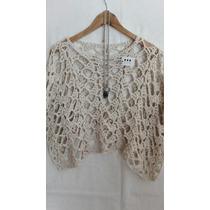 Poncho Tejido Crochet