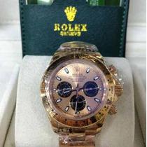 Relogio Top Luxo Ouro Rose Daytona Cx E Man 12x Sem Juros