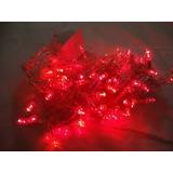Luces De Navidad Led Color Rojo 100 Para Arbolito Decorar