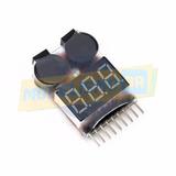 Lipo Buzzer Monitor De Bateria E Alarme C/ Voltimetro 1s-8s
