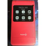 Celular Tech 180 Folder Adulto Mayor Chip 17 Días Gratis