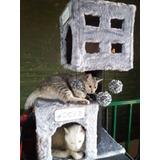 Rascadores Gimnasio Para Gatos (eden Gatuno) Doble Casita