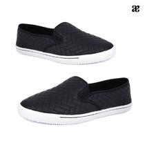 - Calzado Andrea Sneaker Slip On Aplicacion De Malla 2362823